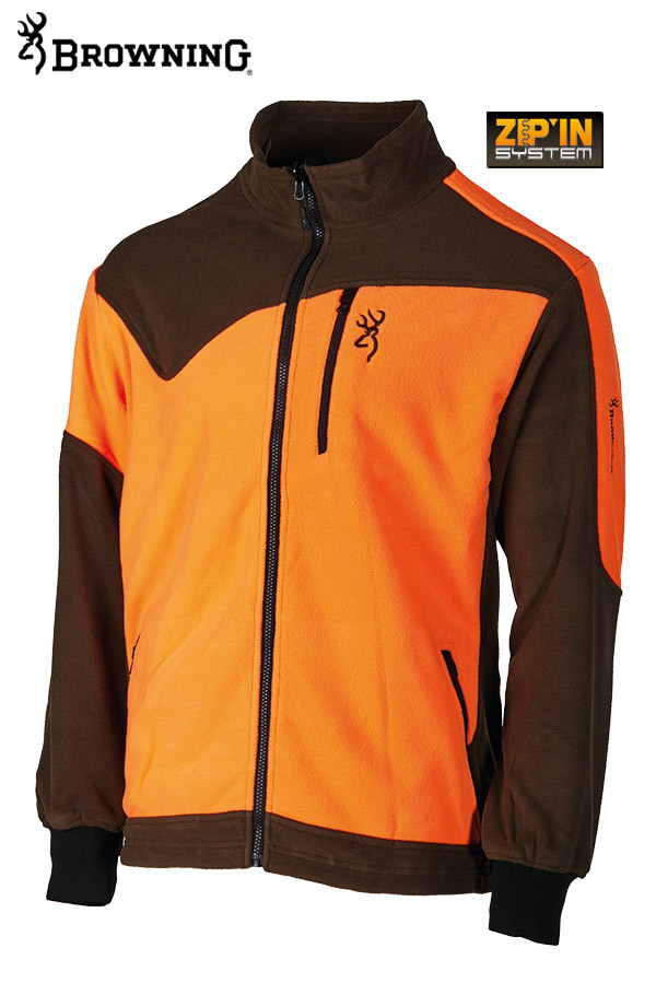 Powerfleece-Jacke Browning, grün/orange