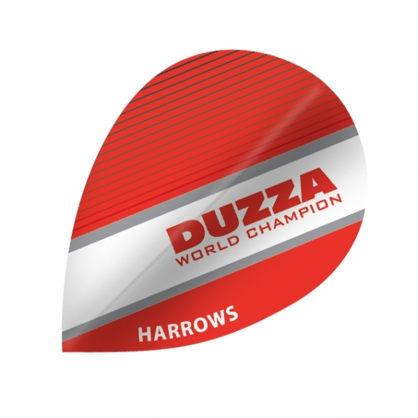 Flight Harrows Marathon DUZA World Champion  (pear), rot/weiß