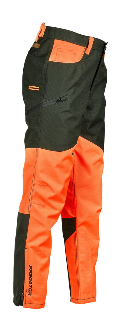 Jagdhose Percussion Predator R2, orange/grün