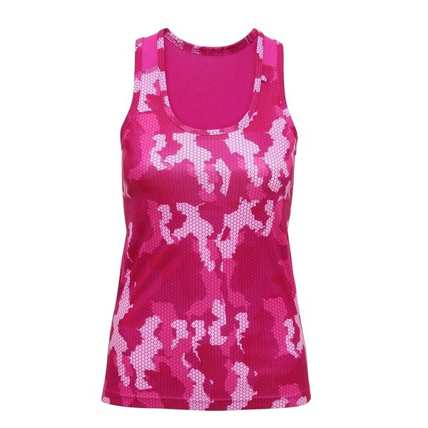 Funktionstop TriDri Hexoflage, hot pink camo
